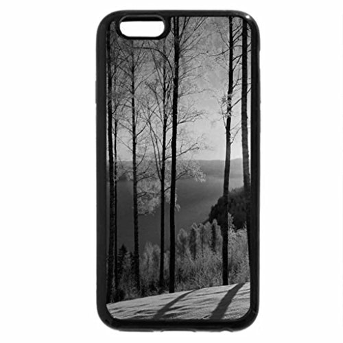 iPhone 6S Plus Case, iPhone 6 Plus Case (Black & White) - Amazing Sunset