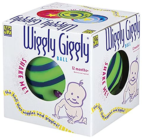 Large Wiggly Giggly Ball by Toysmith (assorted colors, sold individually) (Laughing Dog Ball)