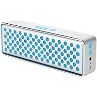 GranVela Rock MUBOX Portable Bluetooth 4.0 Aluminum Wireless Stereo Speaker with Two Strong Speaker Drivers, A Powerful Passive Bass Ratiator, With AUX Input & Built-in Mic For Calls (Blue)