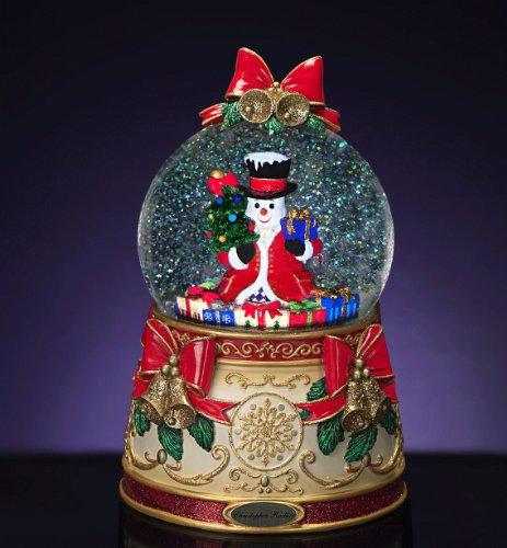 RADKO STATELY SNOWMAN 120mm Musical Snow Globe (Musical Snowman Snowglobe)