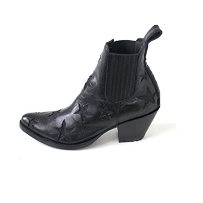 Mexicana Women's Circus Texan in Black Leather with Stars 37, 5(EU)  -4.5(UK) Black: Amazon.co.uk: Shoes & Bags