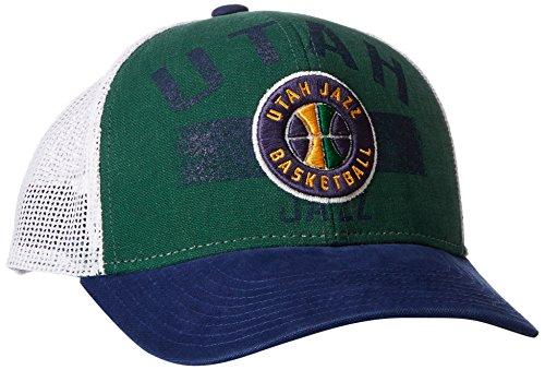 fan products of NBA Utah Jazz Men's Downtown Trucker Meshback Hat, Green, One Size