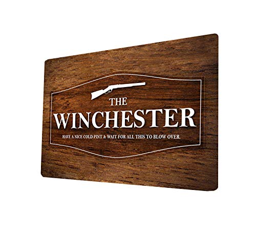 Artylicious The Winchester Wood Effect Movie Quote A4 Metal Sign Plaque Wall Art