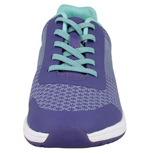Clarks  Frisby Fun Jnr, Chaussures de ville à lacets pour femme violet violet