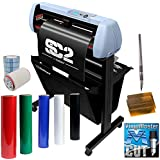 "28"" SC2 Vinyl Cutter Plotter Machine w/Catch Basket, Oracal 651, Tape, Tools (Signshop Bundle)"