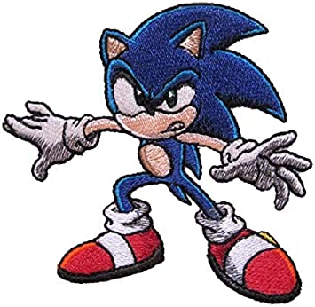 Amazon Com Sonic Hedgehog Character Sega Genesis Gaming Inspired Novelty Iron On Patch Arts Crafts Sewing