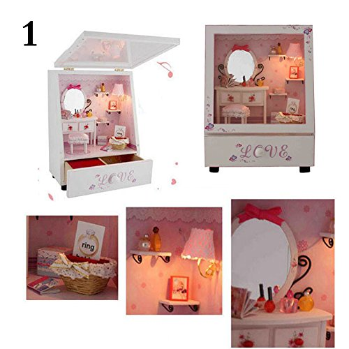 SEPTEMBER DIY Dresser Music Box Series And Wooden Miniature Dollhouses Furnitures With Warm For Creative Wedding Birthday (Halloween Games Diy)
