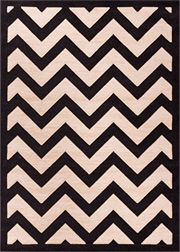 Cheap Well Woven 19638 Kings Court Modern Area Rug, 9'3″ x 12'6″, Black