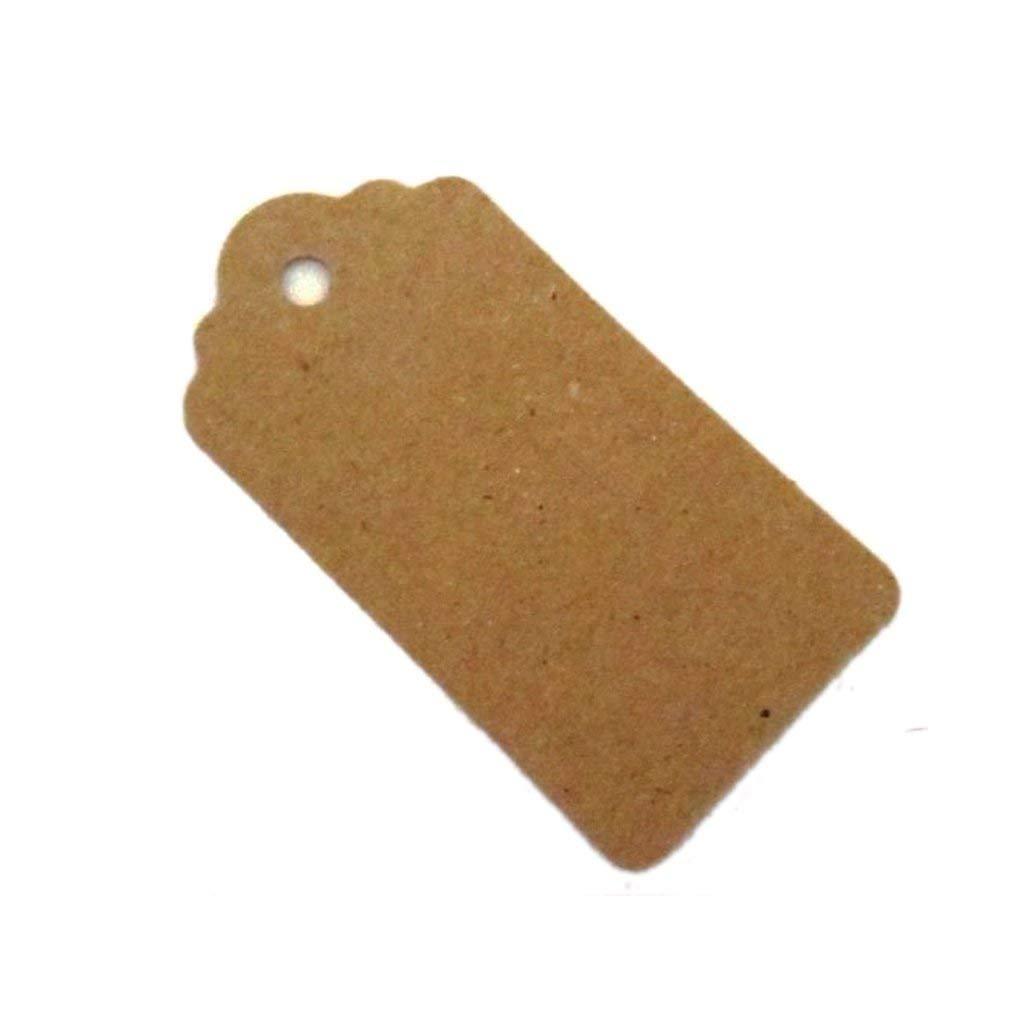 100 etichette per bagagli DIY prezzo tag etichetta Hang tag 100/% riciclabile carta kraft tag Naisecore 100pcs 95 mm x 45 mm smerlato shabby chic grande regalo di nozze tag