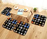 Elastic Cushions Chairs All of The Planets That Make up The Solar System with The Sun and Prominent Moons for Living Rooms W29.5 x L29.5/4PCS Set