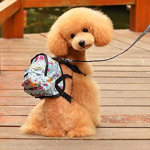 Vivi Bear Cute Animation Pattern Snacks Backpack For Puppy Dogs Cartoon Shoulder Bag for Small Dogs Cat)