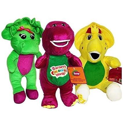 Amazon com: Barney, Baby Bop, BJ Plushes Singing 'I Love You