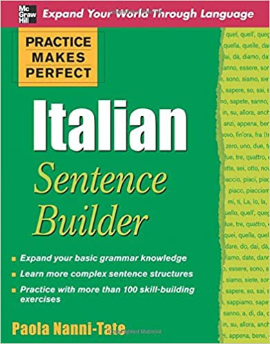 Amazon.com: Practice Makes Perfect Italian Sentence Builder ...