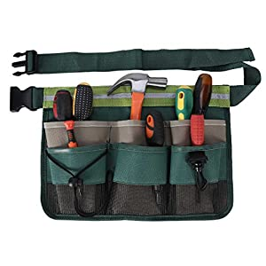 ENJOHOS Garden Tool Belt, Tool Pouch with 7 Pockets, Garden Tool Bag with Adjustable Belt, Tool Belt Men for Home…