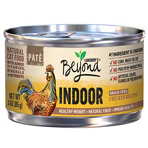Purina Beyond Indoor Grain Free, Natural Pate Wet Cat Food;...