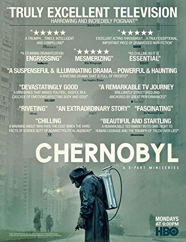 Chernobyl Historical Drama Television Miniseries Jared Harris Stellan Skarsgård Paul Ritter Jessie Buckley 12 x 18 Inch Quoted Multicolour Rolled Poster CH67 (Podcast Wait Wait Don T Tell Me)