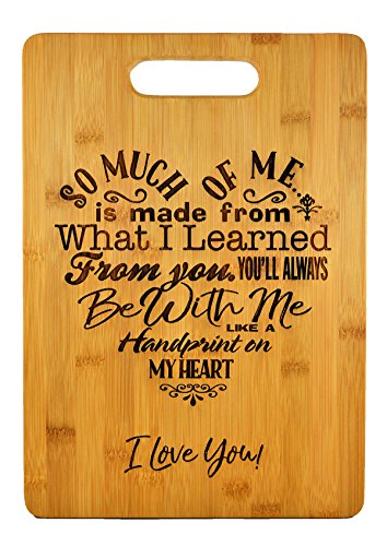 Mothers Gift - Special Love Heart Poem Bamboo Cutting Board Design Mom Gift Mothers Day Gift Mom Birthday Christmas Gift Engraved Side For Décor Hanging Reverse Side For Usage (9.75x13.75 Rectangle)