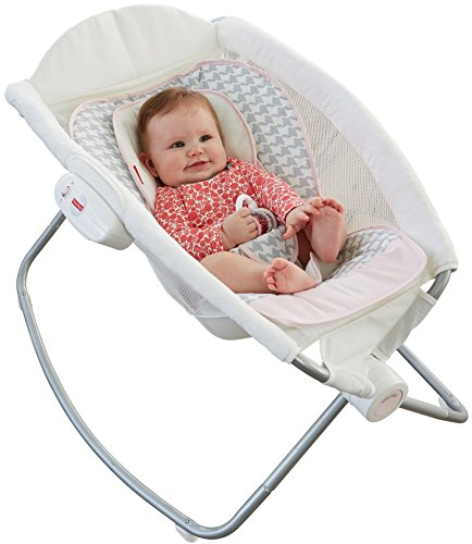 Fisher-Price Deluxe Rock 'n Play Sleeper, Sweet Surroundings Butterfly Pink/Grey/White