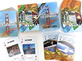San Francisco and Hawaii, Souvenir Playing Cards, Vacation Gift. Card Faces Feature Multiple Landmarks, Oustsanding Tourist Gift. The Two Deck Set Includes a Gold Gift Ribbon