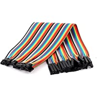 uxcell 40Pcs 1P 2.54mm to 2P 2.0mm Female Jumper Cables Wire 20cm