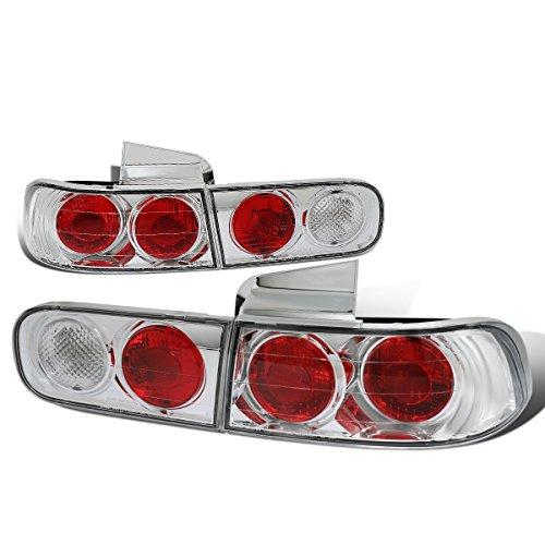 For 1994-2001 Acura Integra 4Dr Sedan Chrome Housing Altezza Style Tail Light Brake/Reverse Lamps