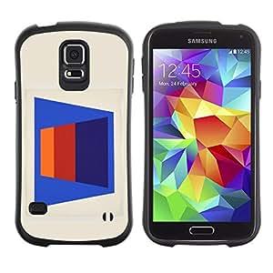 LASTONE PHONE CASE / Suave Silicona Caso Carcasa de Caucho Funda para Samsung Galaxy S5 SM-G900 / Abstract Lines Pattern 3D Art Blue