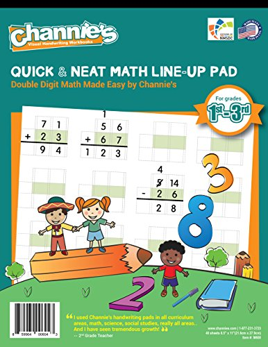 1 Line Double Line (Channie's Double Digit Math LineUp Workbook improve Math Accuracy for 1st-3rd grades)