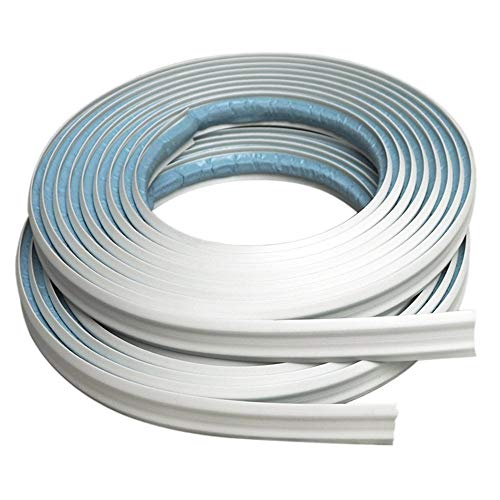 (InstaTrim IT05INWHT InstaTrim-1/2 inch Flexible, Self-adhesive, Caulk and Trim Strips for Floors, Ceilings, Countertops and More and More, 1/2 in. wide X 10 ft long, White, 2)