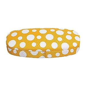 Hard Eyeglass Case, Glasses Holder For Women, Men, Girls, Boys- Polka Dot, Yellow
