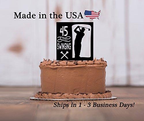 Golf Dad Cake Topper with FREE Keepsake Base,