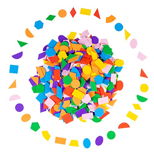 - Foam Stickers - 700-Piece Self-Adhesive Foam Shapes, Geometric Shape Kids DIY Arts and Crafts Supplies, Multicolored