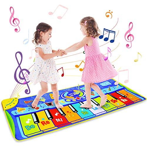 BelleStyle Speelgoed voor 2 3 4 5 6 Jaar Oude Jongens Meisjes, Kinderen Speelgoed Piano Muziek Dansmat voor Peuters, 130…