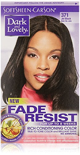 SoftSheen-Carson Dark and Lovely Fade Resist Rich Conditioning Color, Jet Black 371