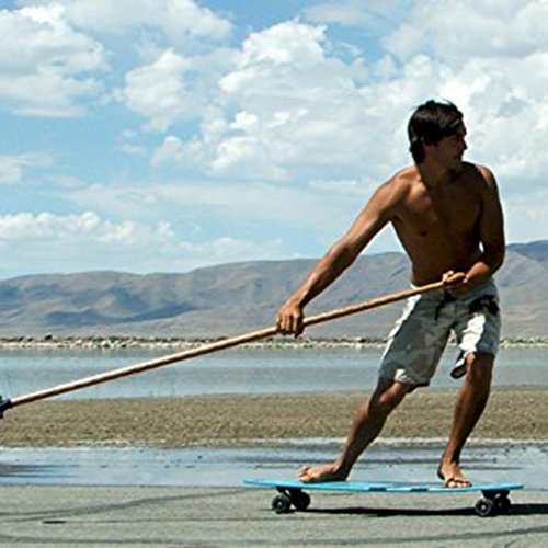 Kahuna Creations Wave Drop Deck Longboard, Black Tribal, 43'' x 10''