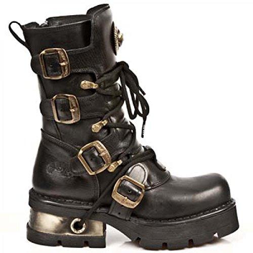 New Rock Boots M.373-c39 Gotico Hardrock Punk Unisex Stiefel Schwarz