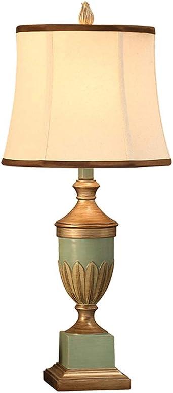 Lampe De Table Rétro Style Européen, E27 Chambre De Tissu