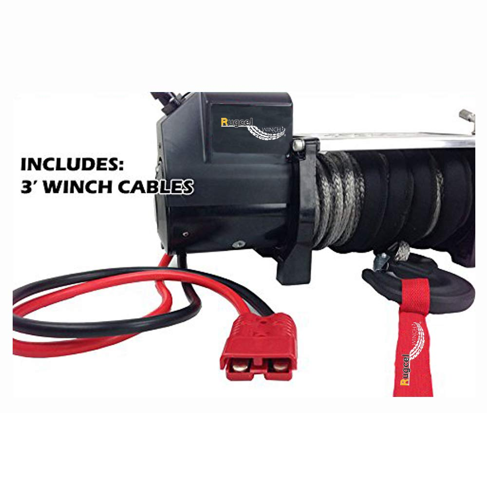 RUGCEL WINCH 1-Gauge 800A Permanent Installation kit Jumper Battery Cables with Quick Connect Plug 30 Ft Booster Jump Start ENB-130-30' Allows You to Boost a Battery from Behind a Vehicle by RUGCEL WINCH (Image #2)