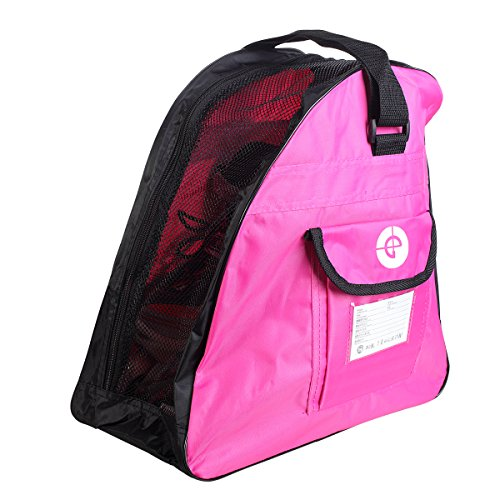 In Line Skates Bag - R-SPEED Inline Skates Bag, Pink Shoulder Inline Skate Oxford Cloth Bag-to Carry Ice Skates, Roller Skates, Inline Skates for Both Kids and Adults,Easy and Convenient