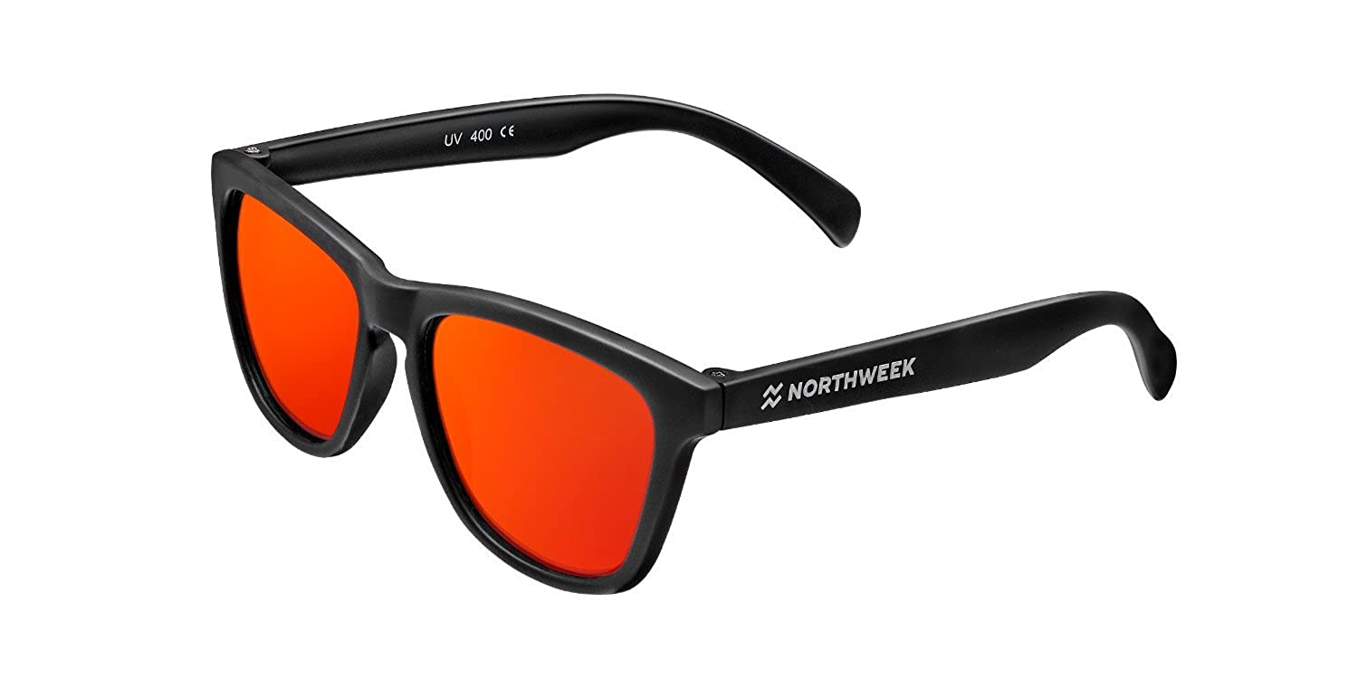 NORTHWEEK NDD000005 Gafas de sol, Matte Black/Red, 38 Unisex ...
