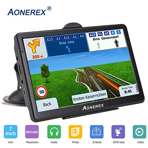 Navigation System for Cars 7 Inch with High Resolution Touch Screen Real Voice Direction Vehicle GPS Navigator Lifetime Map Updates (GPS M7)