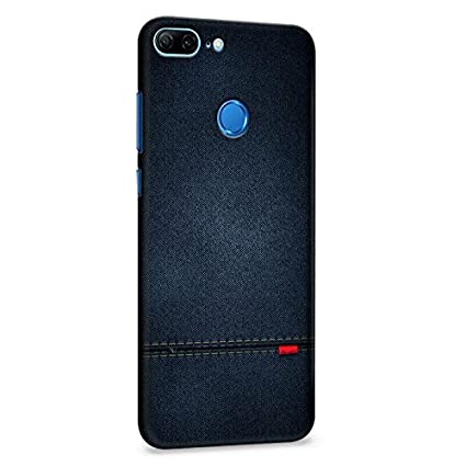 online store 5769e 296ae Crazyink Honor 9 Lite Premium Stylish Printed Waterproof Slim Light Weight  Blue Leather Texture Hard Back Cover Case