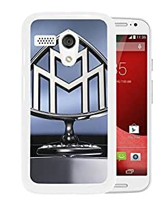 Grace and Nice Case Maybach Logo Motorola Moto G Phone Case in White