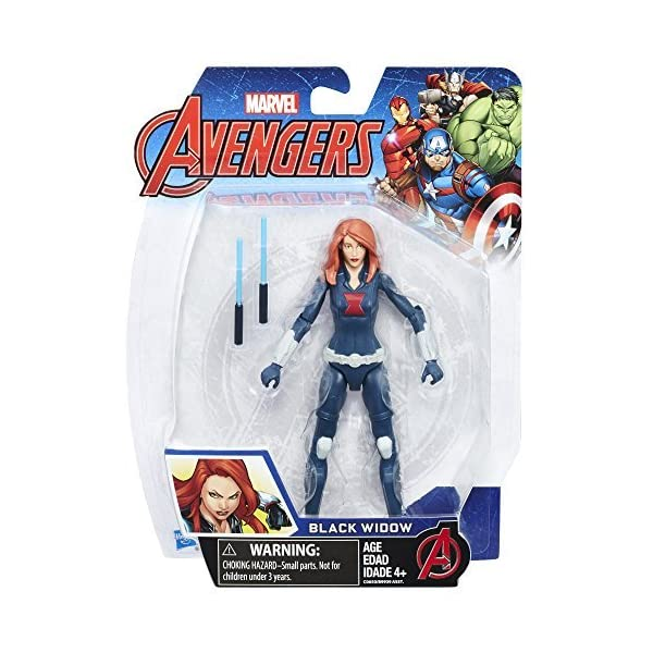 51fBEr0KIBL Marvel Avengers Black Widow 6-in Basic Action Figure