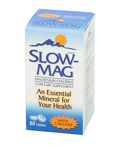 - Slow-Mag Dietary Supplement with Calcium, 60 Tablets Per Bottle (3 Bottles)