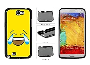 Bright Yellow Laughing Crying Smiley Face Plastic Phone Case Back Cover Samsung Galaxy Note II 2 N7100