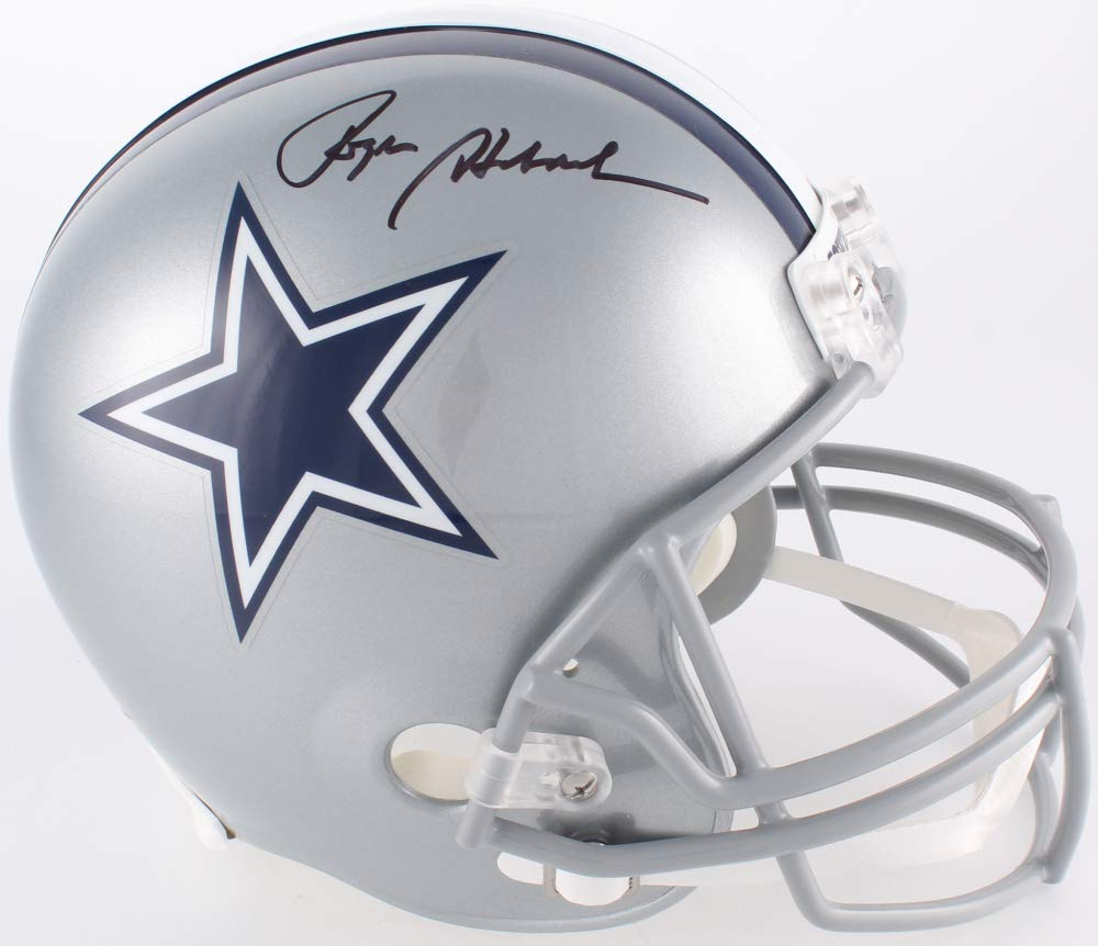 Roger Staubach Dallas Cowboys Signed Autograph Full Size Helmet JSA Witnessed Certified