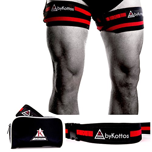 - Training Bands ByKottos for Legs - Blood Flow Restriction Braces for Incredible Fast Muscle Growth, BFR Bands with Strong Clip and Thickest Elastic Strap, Safer Workouts, Faster Gains