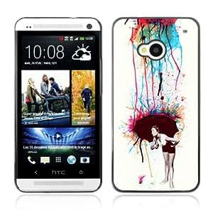 CQ Tech Phone Accessory: Carcasa Trasera Rigida Aluminio Para HTC One - Cool Colorful Retro Neon Art