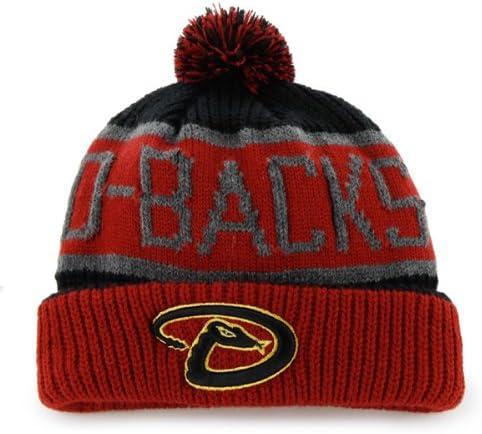 47 「カルガリー」 カフビーニーキャップ 帽子 ぽポンポン付き – MLB 冬用カフニットキャップ Arizona Diamondbacks