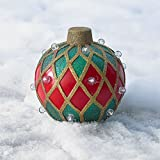 Brylanehome Small Pre-Lit Outdoor Ornament (Red Gold Green,0)